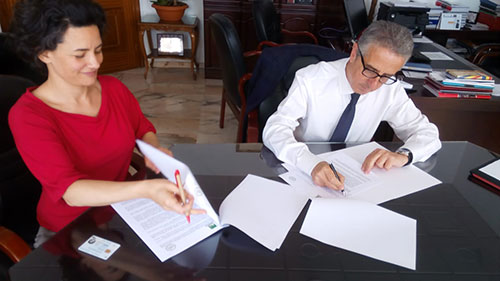 Nota de prensa sobre la firma de acuerdos de colaboración entre Subbética Ecológica y la Diputación de Córdoba y Mancomunidad de la Subbética.