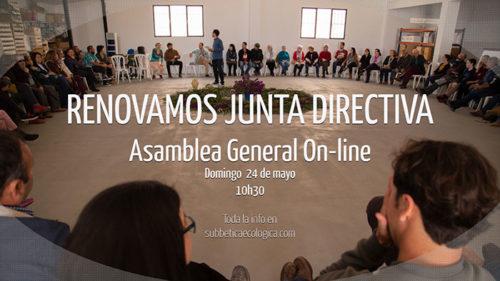 Celebramos nuestro encuentro anual de Asamblea General de forma on-line. Además elegiremos a la nueva Junta Directiva!