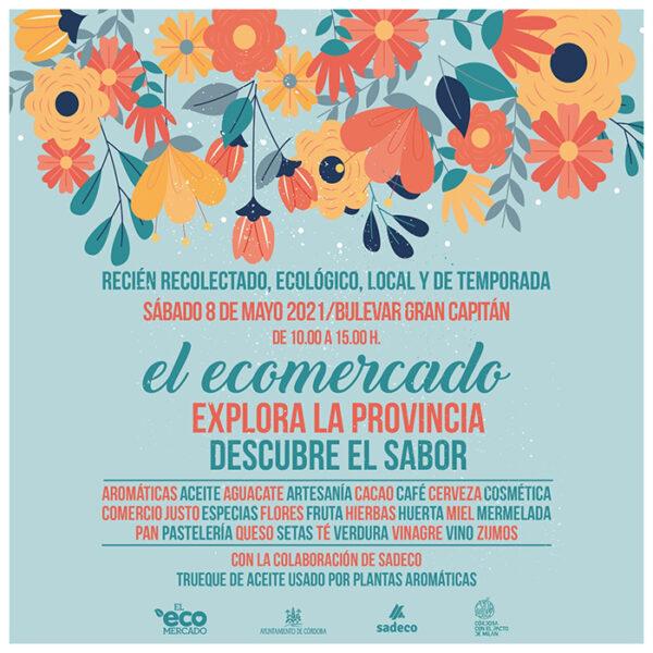 Cartel anunciador del Ecomercado de Mayo