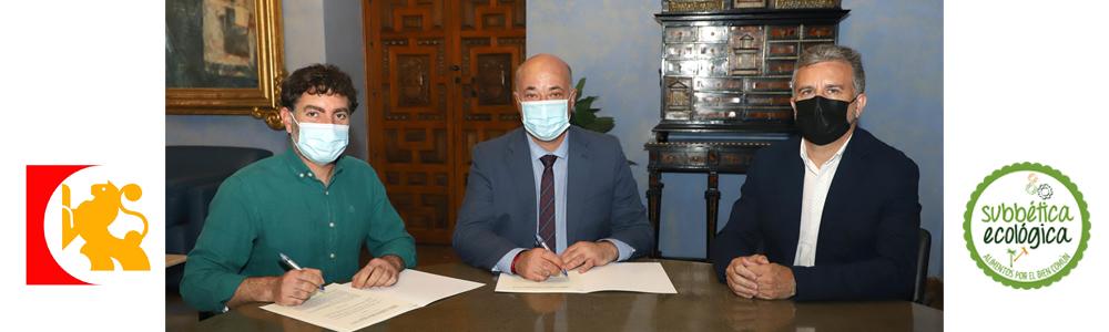 Momento de la firma del Convenio con Diputación de Córdoba 2021