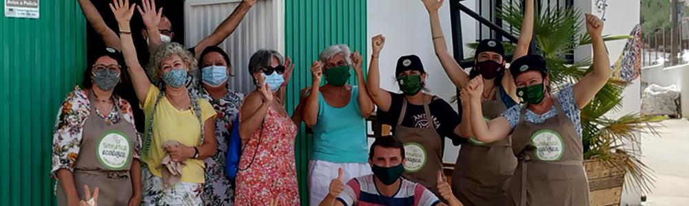 Equipo voluntario del Obrador Ecológico de la Subbética